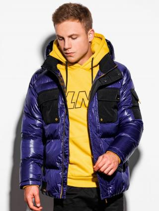 Ombre Clothing Mens mid-season quilted jacket C457 pánské Navy S