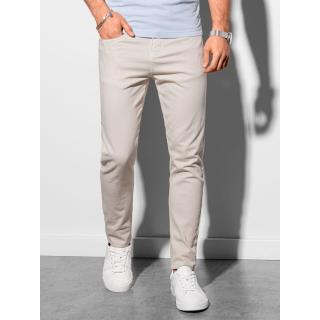 Ombre Clothing Mens pants chinos P990 pánské Beige S
