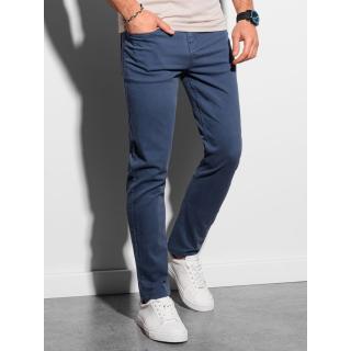 Ombre Clothing Mens pants chinos P990 pánské Blue S