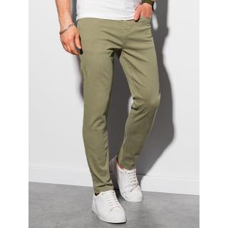 Ombre Clothing Mens pants chinos P990 pánské Khaki S