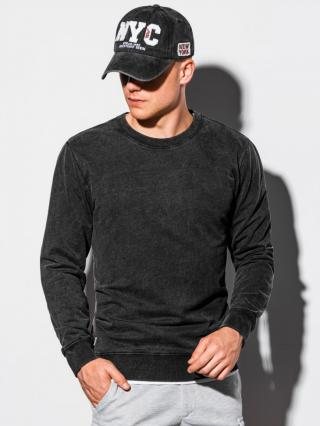 Ombre Clothing Mens plain sweatshirt B1023 pánské Black S
