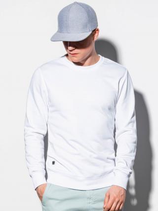 Ombre Clothing Mens plain sweatshirt B978 pánské White XL