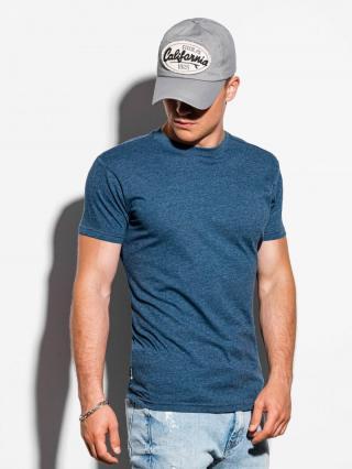 Ombre Clothing Mens plain t-shirt S884 pánské Navy M