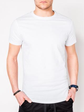 Ombre Clothing Mens plain t-shirt S884 pánské White XL