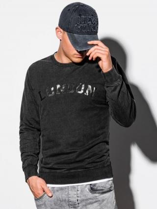 Ombre Clothing Mens printed sweatshirt B1025 pánské Black S