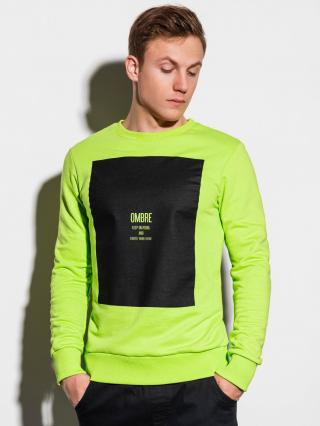 Ombre Clothing Mens printed sweatshirt B1045 pánské Green M