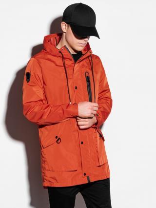 Ombre Clothing Mens spring jacket C440 pánské Red M