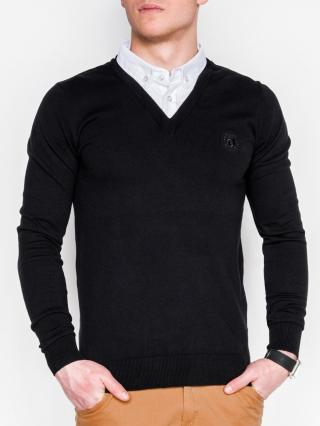 Ombre Clothing Mens sweater E120 pánské Black S