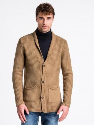 Ombre Clothing Mens sweater E164 pánské Camel M