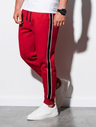 Ombre Clothing Mens sweatpants P898 pánské Red S
