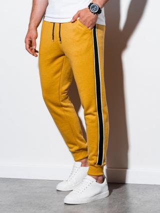 Ombre Clothing Mens sweatpants P898 pánské Yellow S