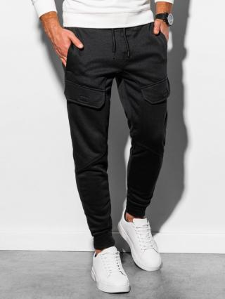 Ombre Clothing Mens sweatpants P904 pánské Black L