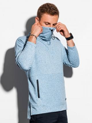 Ombre Clothing Mens sweatshirt with a stand-up collar B1096 pánské Blue S