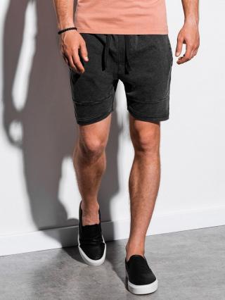 Ombre Clothing Mens sweatshorts W223 pánské Black S