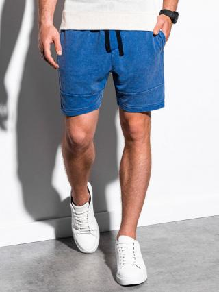 Ombre Clothing Mens sweatshorts W223 pánské Blue S