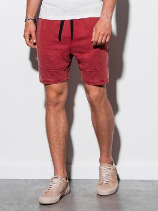 Ombre Clothing Mens sweatshorts W223 pánské Red S