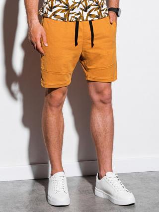 Ombre Clothing Mens sweatshorts W223 pánské Yellow S