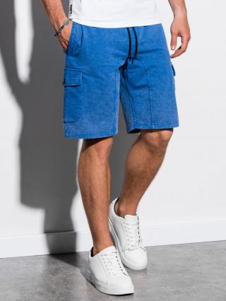 Ombre Clothing Mens sweatshorts W225 pánské Blue S