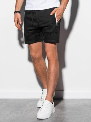 Ombre Clothing Mens sweatshorts W240 pánské Black M