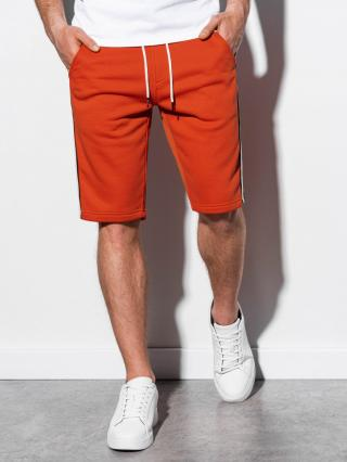 Ombre Clothing Mens sweatshorts W241 pánské ceglasty S