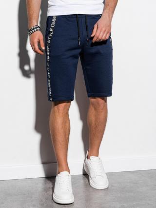 Ombre Clothing Mens sweatshorts W242 pánské Navy M