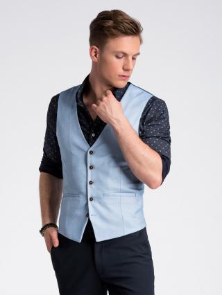 Ombre Clothing Mens vest V45 pánské lazure S