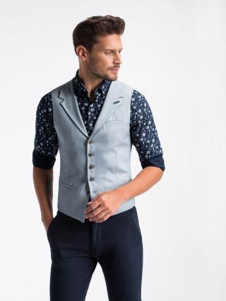 Ombre Clothing Mens vest V46 pánské lazure S