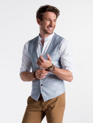Ombre Clothing Mens vest V48 pánské lazure M