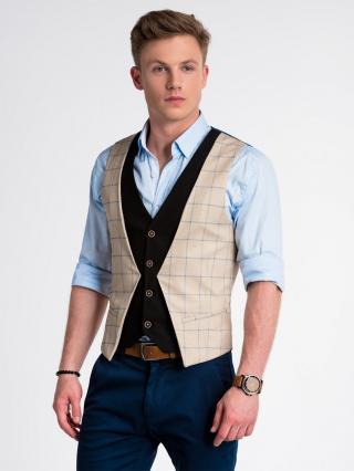 Ombre Clothing Mens vest V49 pánské Camel S