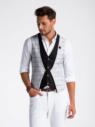 Ombre Clothing Mens vest V49 pánské Grey M