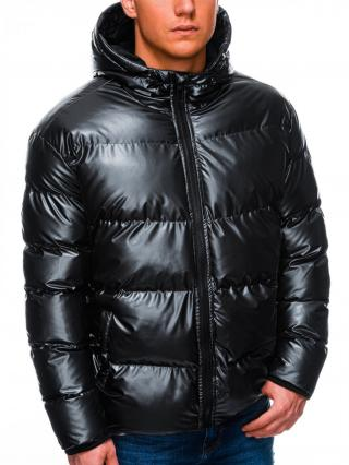 Ombre Clothing Mens winter jacket C463 pánské Black M