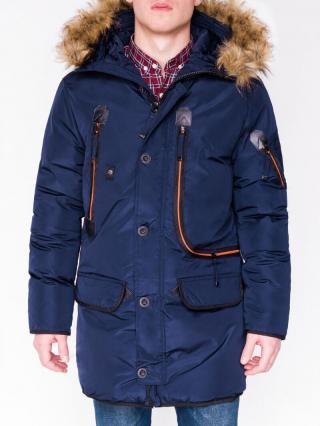 Ombre Clothing Mens winter parka jacket C369 pánské Navy L