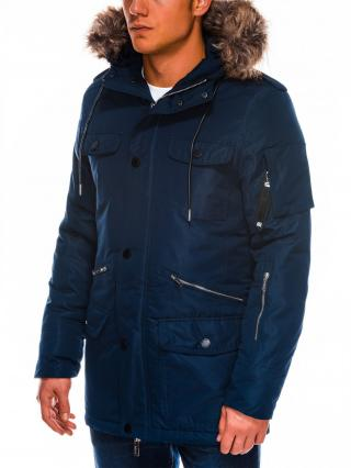Ombre Clothing Mens winter parka jacket C410 pánské Navy M