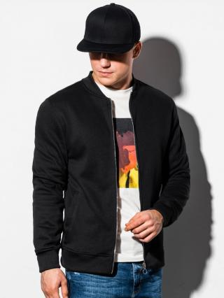 Ombre Clothing Mens zip-up sweatshirt B1077 pánské Black S