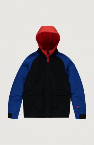 ONEILL Outdoorová bunda Decombe-Bomber  čierna / modrá / červená pánské 128