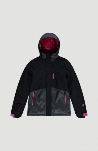 ONEILL Outdoorová bunda Snow Coral Ski  čierna / sivá / ružová dámské 140