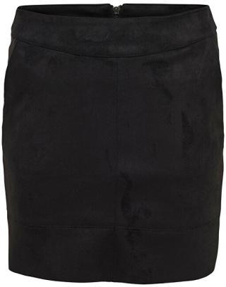ONLY Dámska sukňa ONLJULIE FAUXSUEDE BONDED SKIRT OTW NOOS Black 36