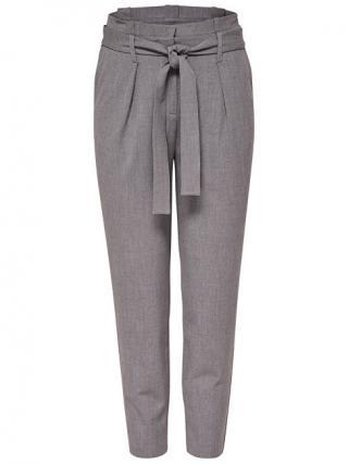 ONLY Dámske nohavice Onlnicole Paperbag Ankle Pants Wvn Noosa Light Grey Melange 34/32