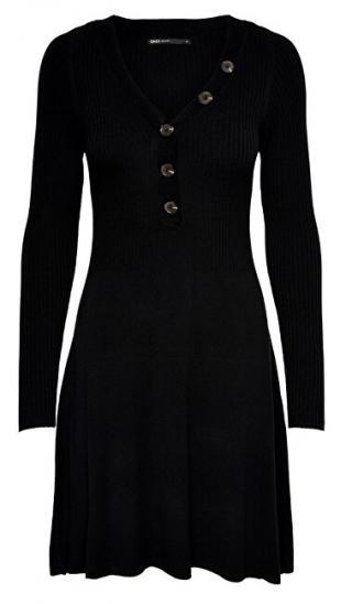 ONLY Dámske šaty ONLIZA L / S DRESS KNT Black S dámské