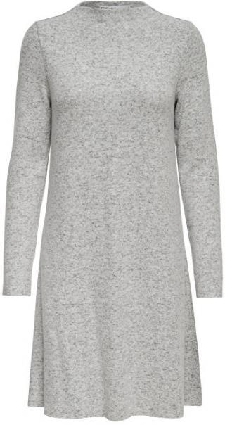 ONLY Dámske šaty ONLKLEO L / S DRESS KNT Noosa Light Grey S dámské