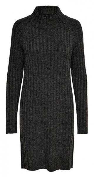 ONLY Dámske šaty ONLNEW MIRAMAR L/S DRESS KNT Dark Grey Melange S dámské