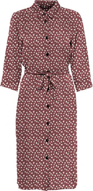 ONLY Dámske šaty ONLNOVA LONG SHIRT DRESS AOP WVN Apple Butter SPRING DOT 42 dámské