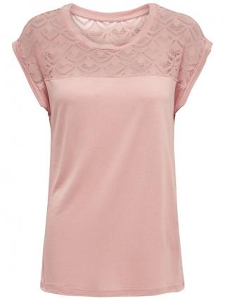 ONLY Dámske tričko ONLNICOLE S / S MIX TOP Noosa Mist y Rose S
