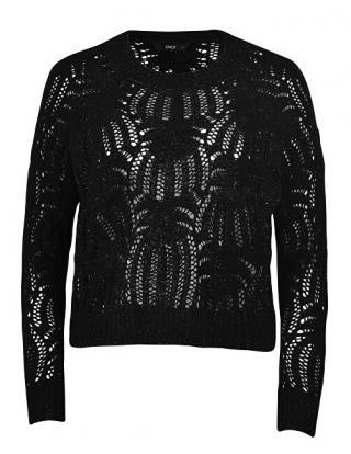 ONLY Dámsky sveter ONLELVA L / S Pullover KNT Black S