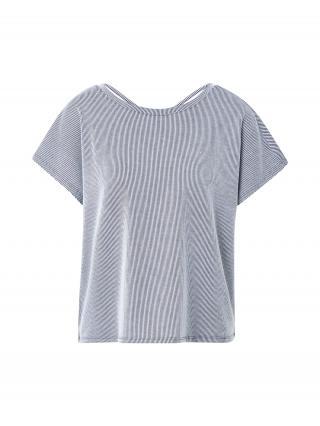 ONLY Tričko Shirley  šedobiela / modrá dámské S
