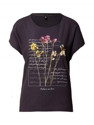 ONLY Tričko WENDY  antracitová / zmiešané farby dámské XS