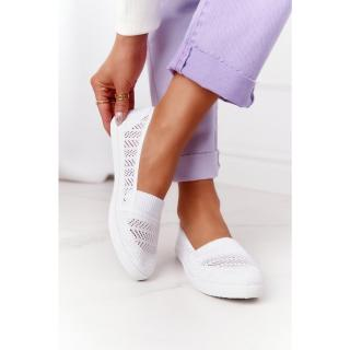 Openwork Slip-On Sneakers White Chillout dámské Other 38