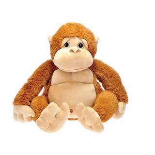 Opica plyšová 50 cm sediaca 0m  hnedá vo vrecku