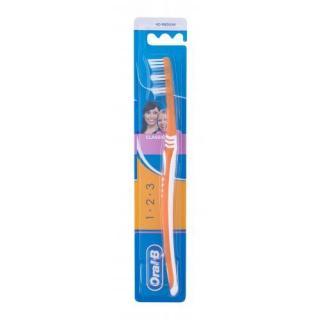 Oral-B 1-2-3 Classic Medium 1 ks zubná kefka unisex 1 ks