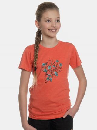 Oranžové dievčenské tričko s potlačou SAM 73 oranžová 140-146